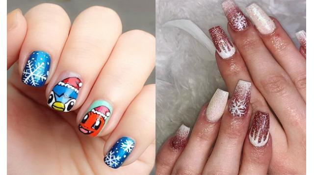 Snow flower nail polish samples this Christmas